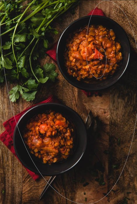 Practice different composition ways in your food photography