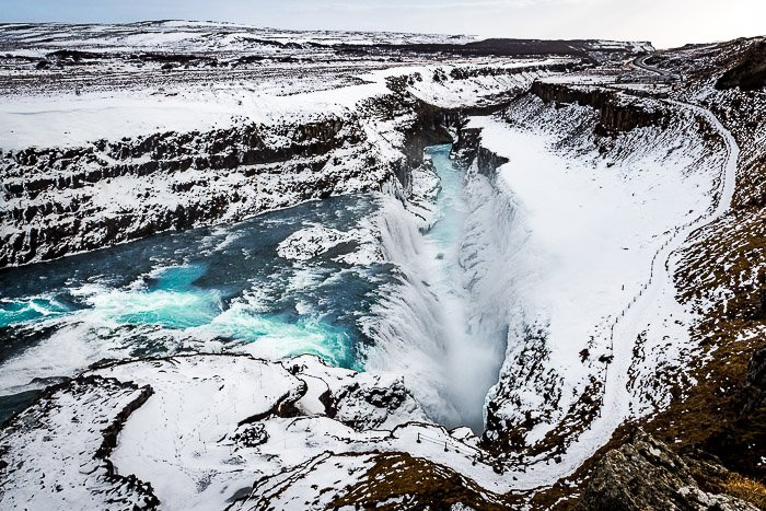 A stunning aerial travel photography taken in Iceland