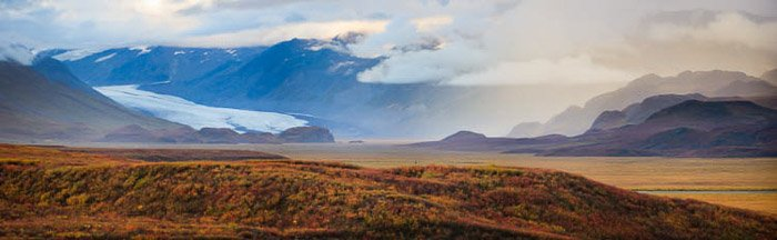 A panoramic image of a beautiful landscape