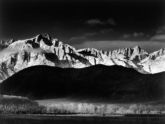 Black and white landscape photo from Ansel Adams