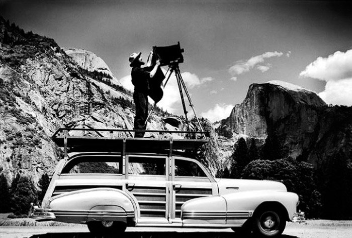 Black and white photo from Ansel Adams