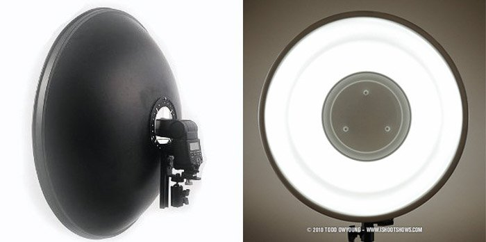 A DIY Photography lighting beauty dish diptych