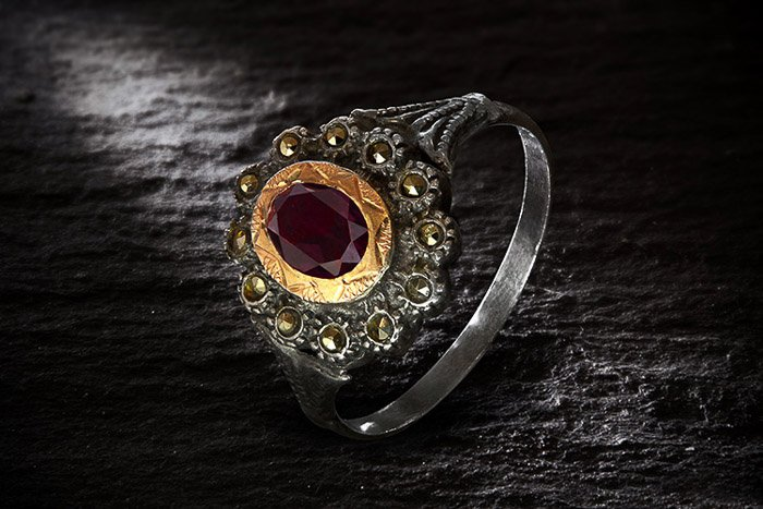 An antique ring shot with diy photography lighting