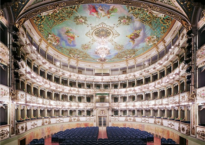 Interior of a lavish theatre by Candida Höfer Female Photographer