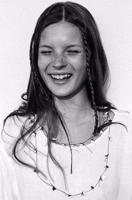 A portrait of Kate Moss by Corinne Day