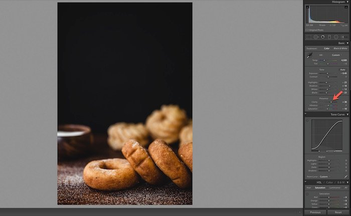 Using Lightroom to process food photography
