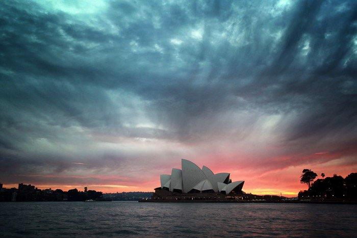 Sunset photography of Sydney opera House