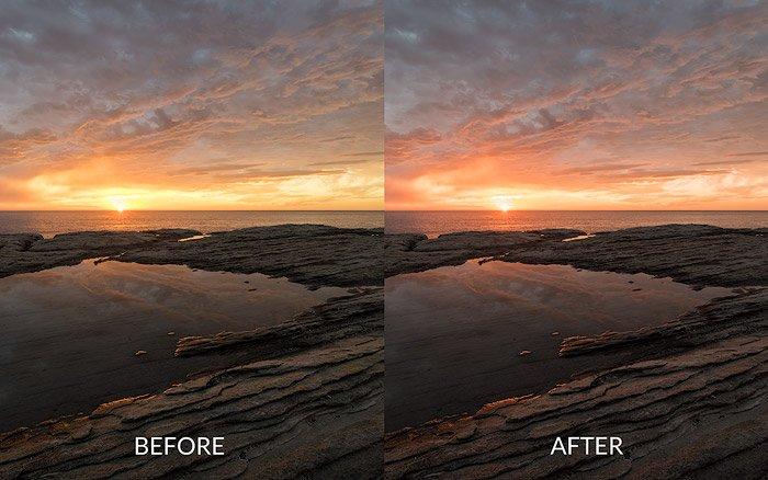 hue change before after