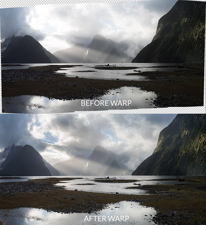 merged landscape pano warp