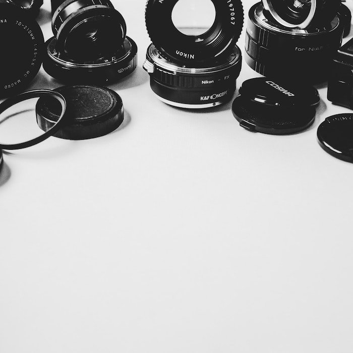a range of lenses for product photography