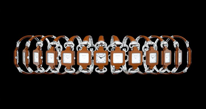 A 360 degree image of a watch showing the viewer every side