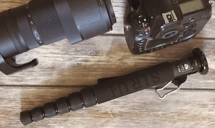A monopod is a necessary item of equipment for sport photography