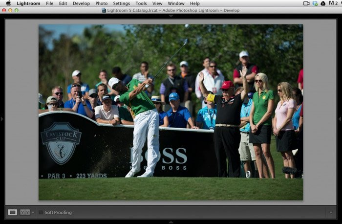 Lightroom is one of the best post-processing software available for sports photography