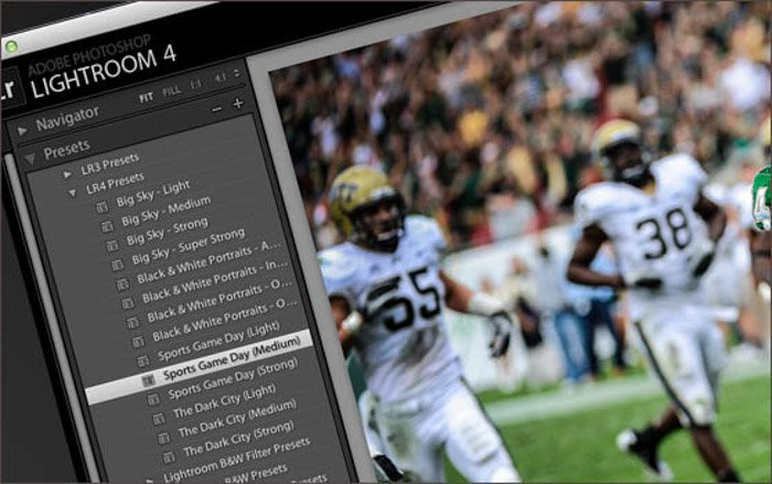 Presets for Lightroom is a great way to adjust your sports photography images fast and efficiently