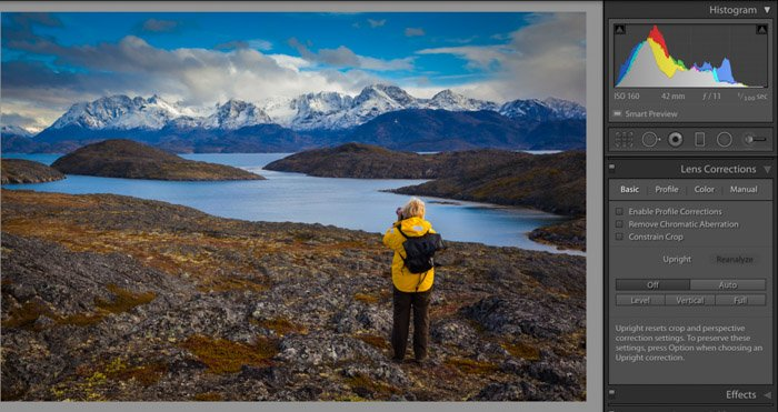 A screenshot of Photoshop post processing of travel photographs