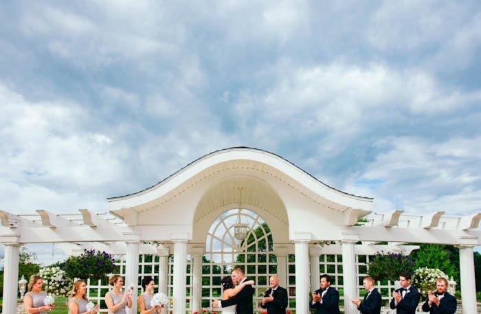 Group wedding photography shot