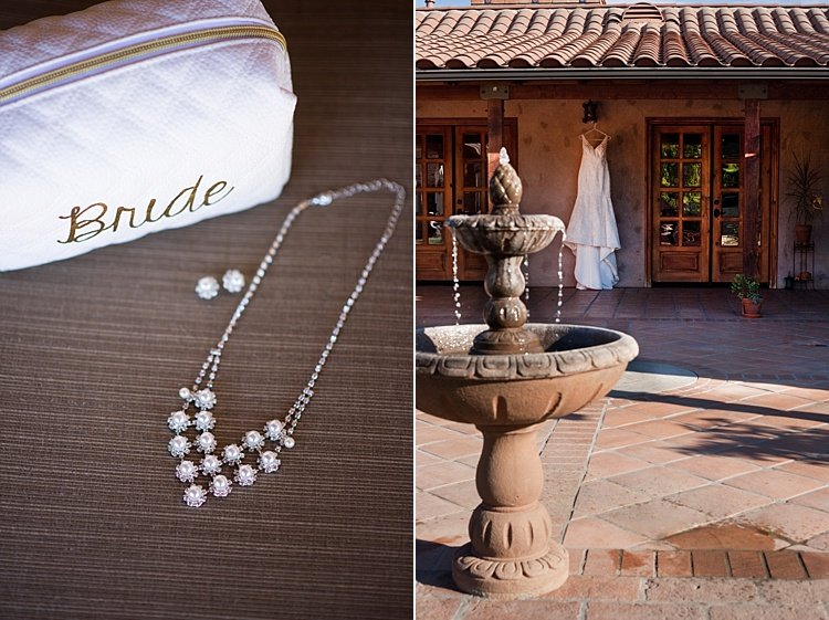 diamond necklace and a wedding dress shop