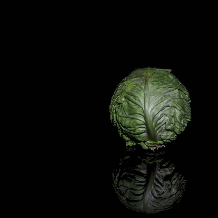 A salad with black background - Macro photography tips