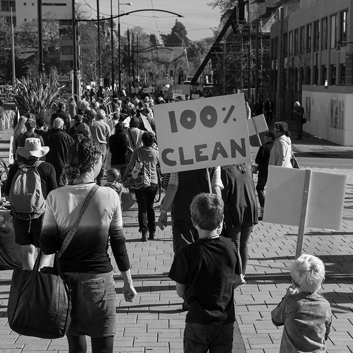 black and white documentary photography of environmental protesters in New Zealand