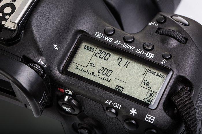 A close up of camera settings