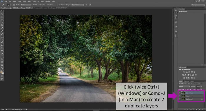 A screenshot showing how to turn photo into a painting with photoshop