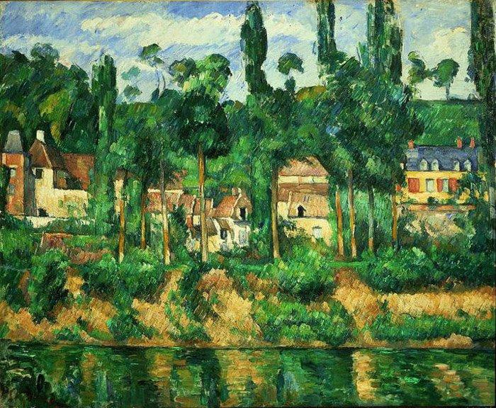 Zola's House at Médan, by Cézanne