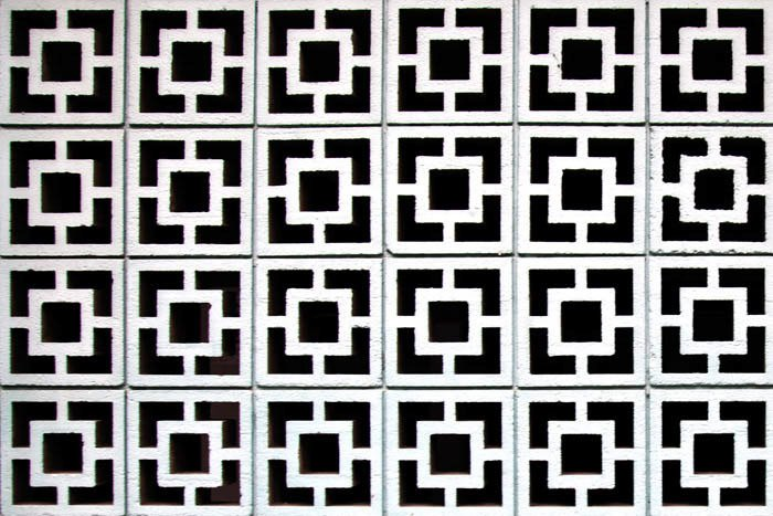 Patterns from the facade of a stone building