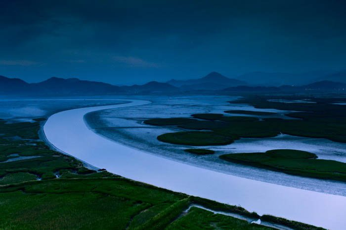 an image of a meandering river - travel photography
