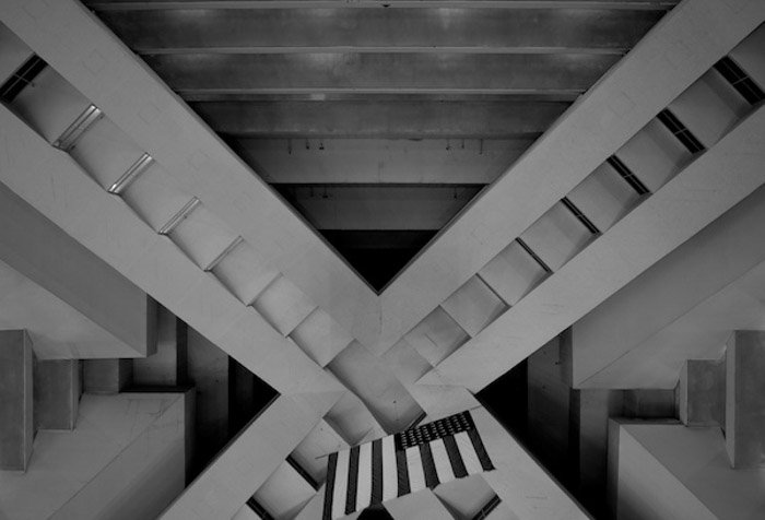 Abstract photo of the interior of a building