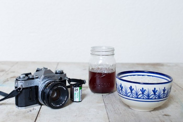 Film soaking materials for DIY photography