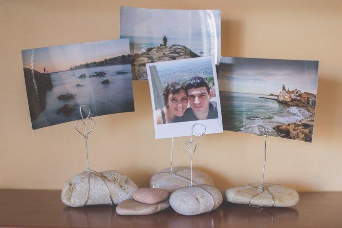 Printed photos on DIY photo frames