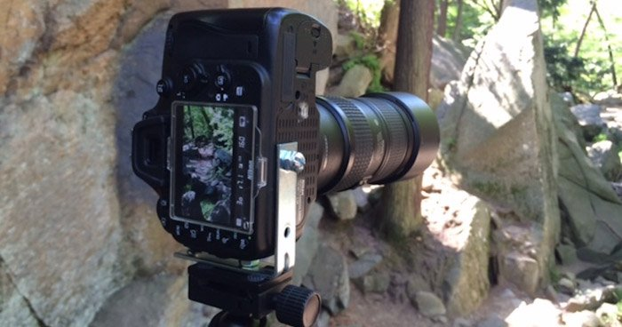 An L-plate will help you use the portrait orientation to create DIY photography images
