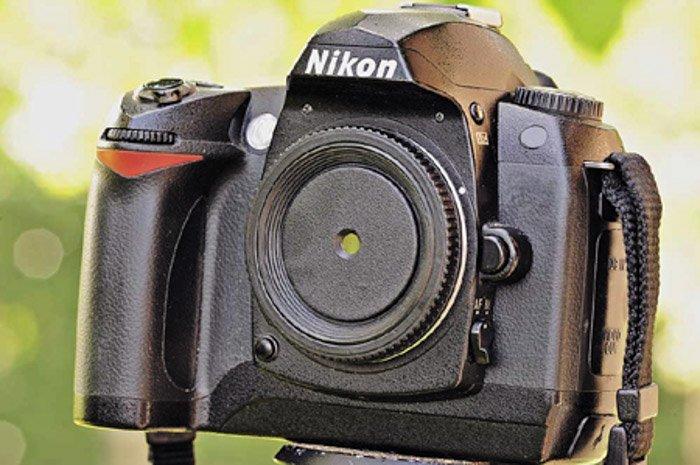 A DIY pinhole on a DSLR camera