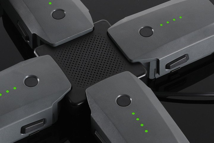 image of spare batteries charging for drone