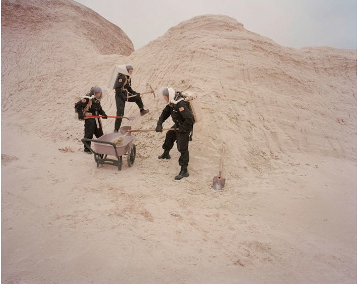 Film photo of people devoting their time living like astronauts on Mars would by Cassandra Klos