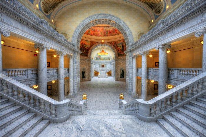 HDR image of the Utah State Capitol