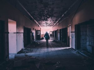 urban exploration of an empty building