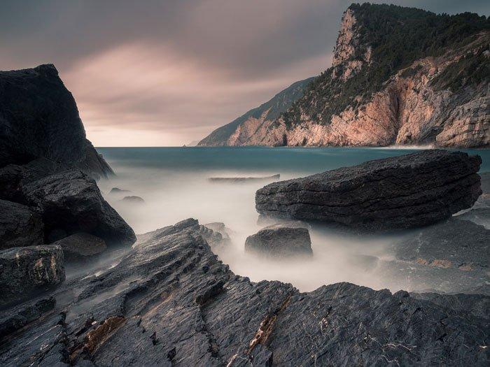 A coastal seascape in Porto Venere, Italy
