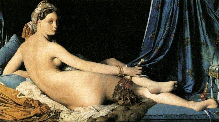 "Jean Auguste Dominique Ingres ""The Odalisque"" 1814"