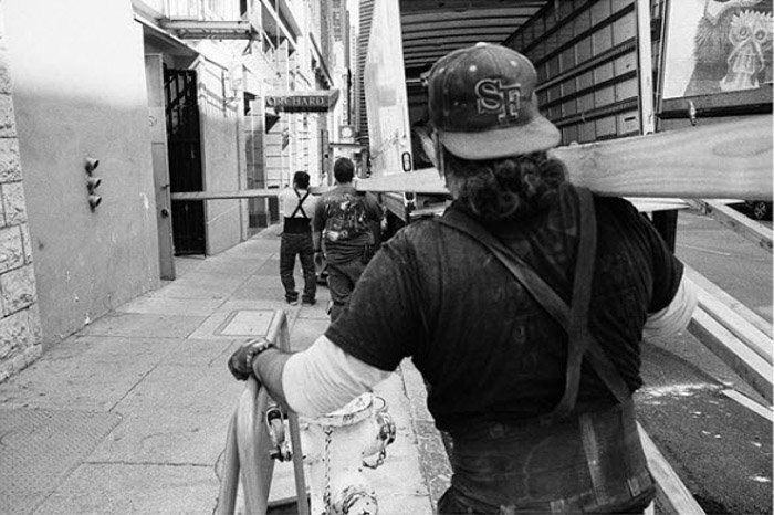 Black and white street photography by Dustin Vaughn-Luma.