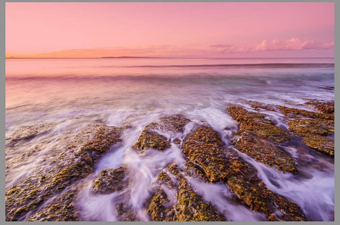 Screenshot of seascape photography being edited using Lightroom graduated filter tool, Lightroom filters
