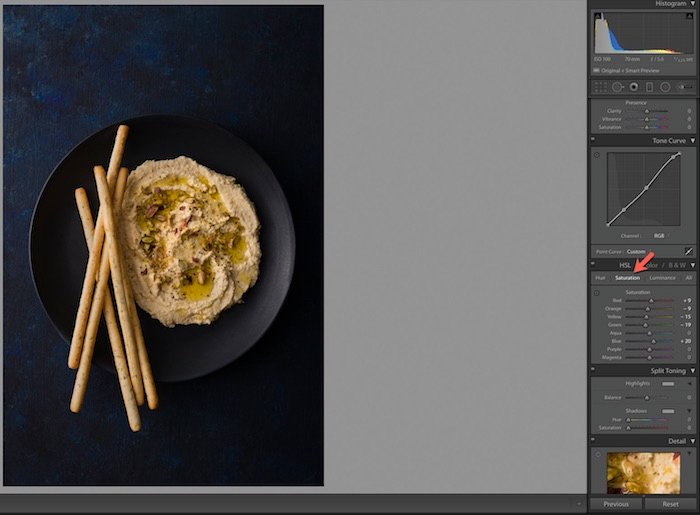 Shot of Adobe Lightroom interface.
