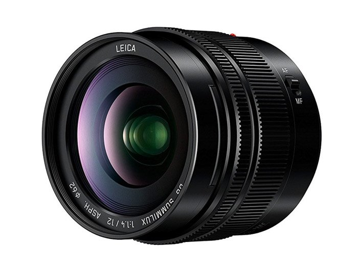 Image of aPanasonic Leica DG Summilux 12mm f/1.4, lens for Panasonic gh5 camera
