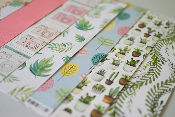 sheets of patterned wallpaper - creative diy photo gifts