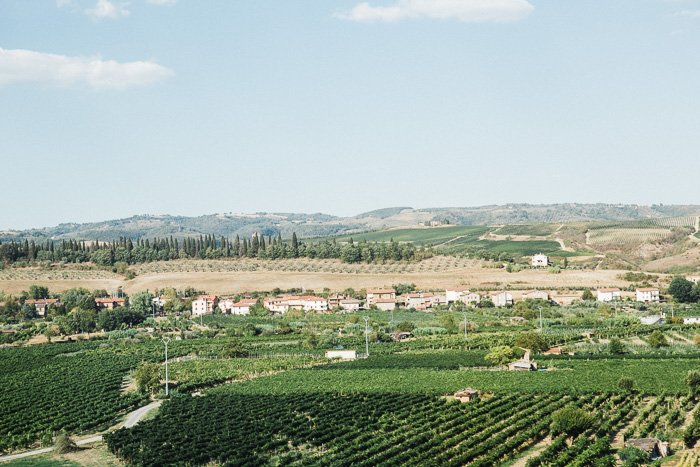 A retouched photo of the Italian countryside as seen from the train.