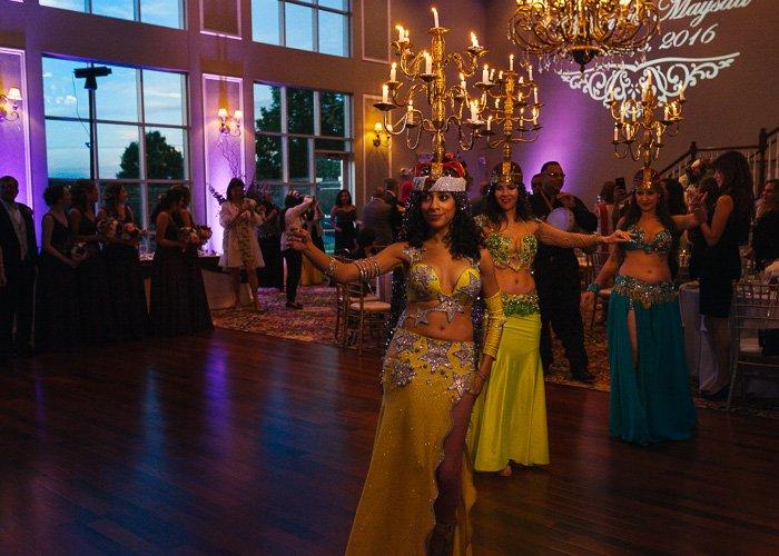 Dancers at an Arabic wedding