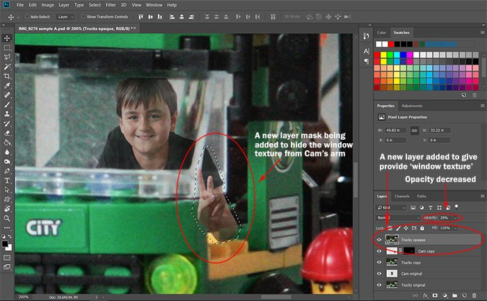 Screeshot of adding layer mask for Photoshop compositing