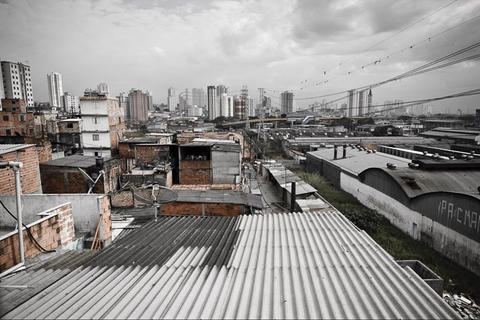 Travel photography shot of a sprawling urban landscape on an overcast day