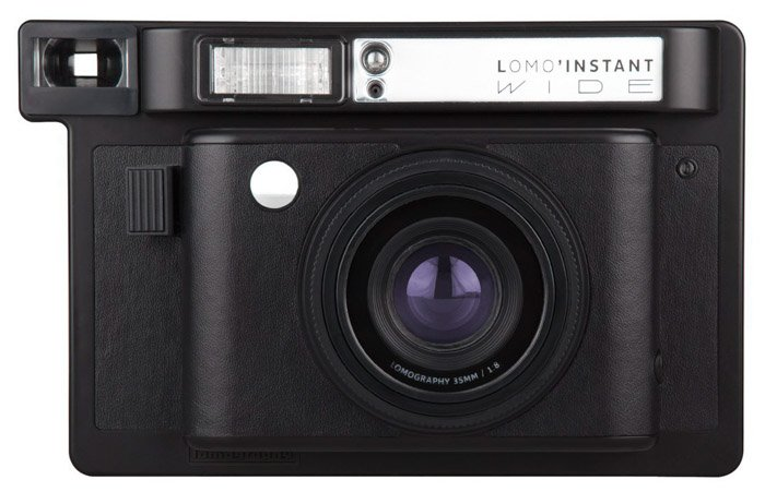 A Lomo Instant Wide camera on white background - best instant camera