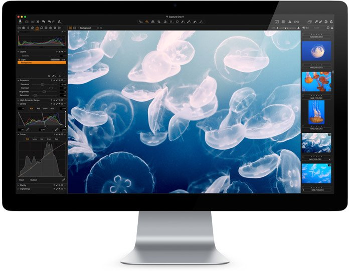 Screenshot of using Capture One for photo editing as an alternative to Lightroom